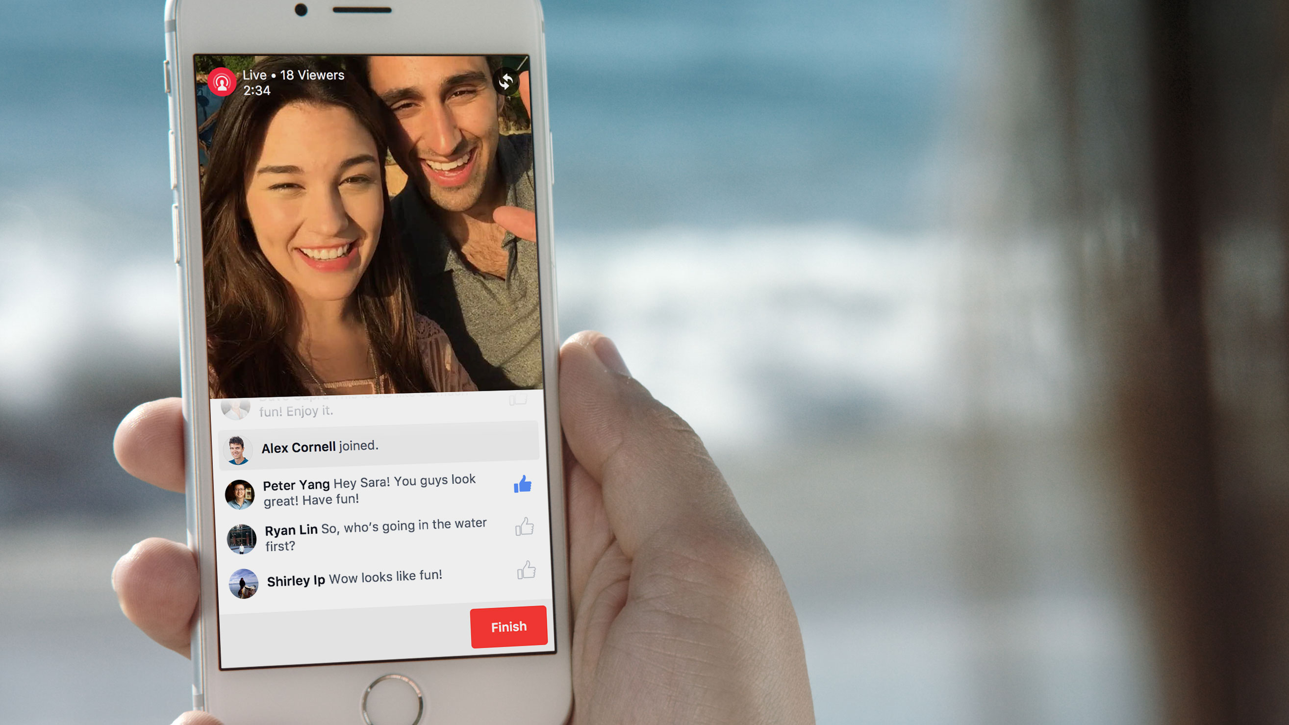 Facebook live video real time social media